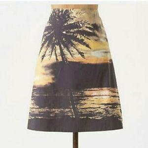 HD in Paris Anthropologie Digital Sunset Skirt
